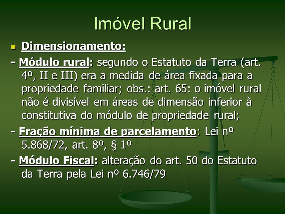 Imóvel Rural Dimensionamento: