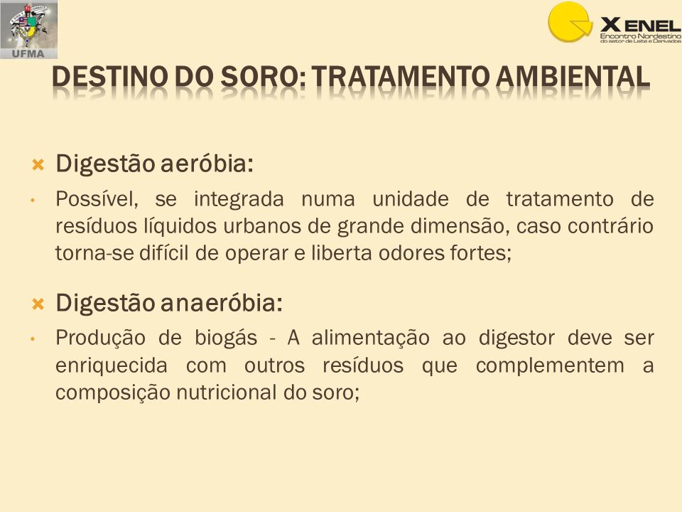 DESTINO DO SORO: Tratamento ambiental