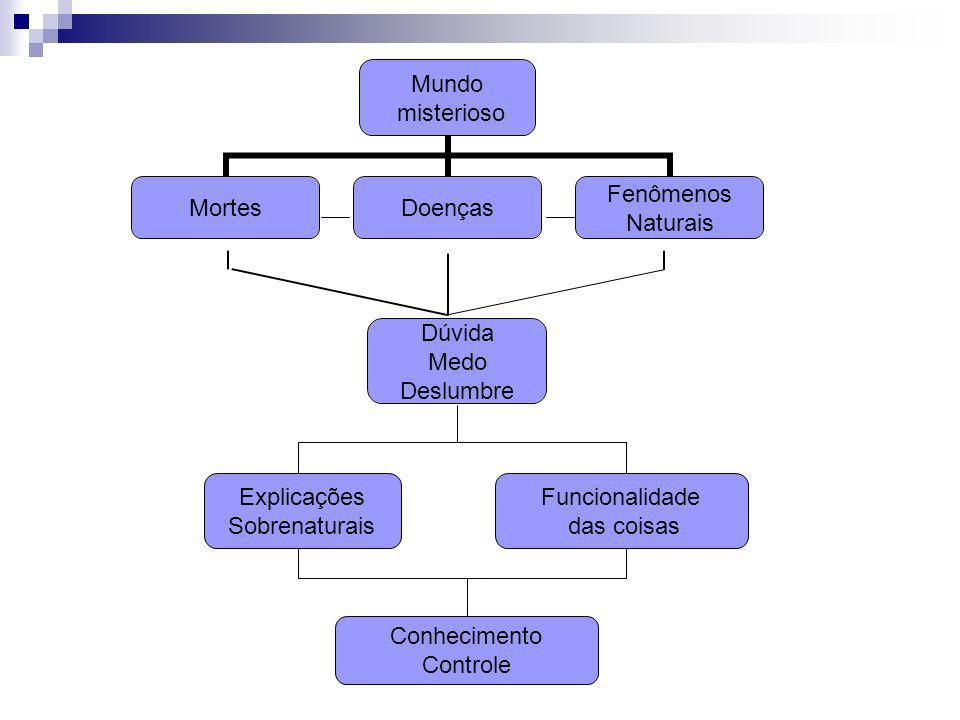 Explicações Sobrenaturais Funcionalidade das coisas Conhecimento Controle