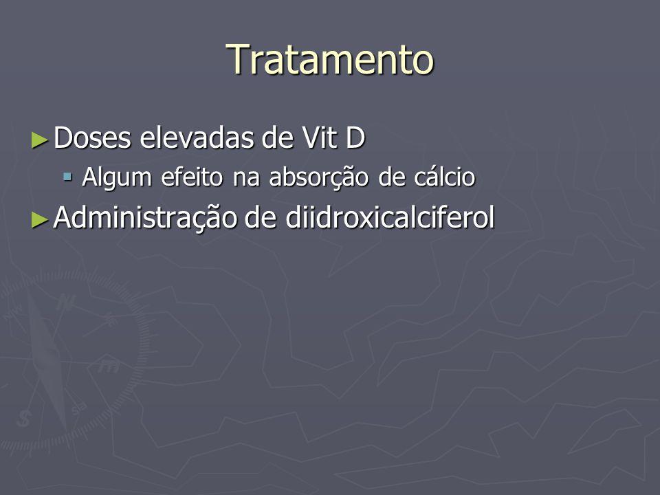 Tratamento Doses elevadas de Vit D Administração de diidroxicalciferol