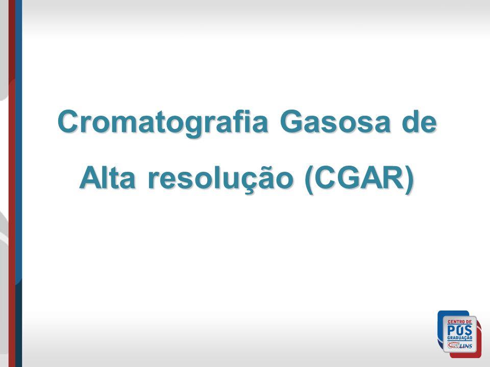 Cromatografia Gasosa de Alta resolução (CGAR)