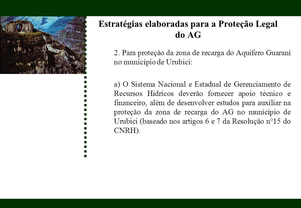 Estratégias elaboradas para a Proteção Legal do AG