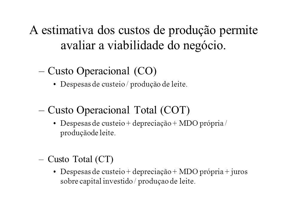 A estimativa dos custos de produção permite avaliar a viabilidade do negócio.