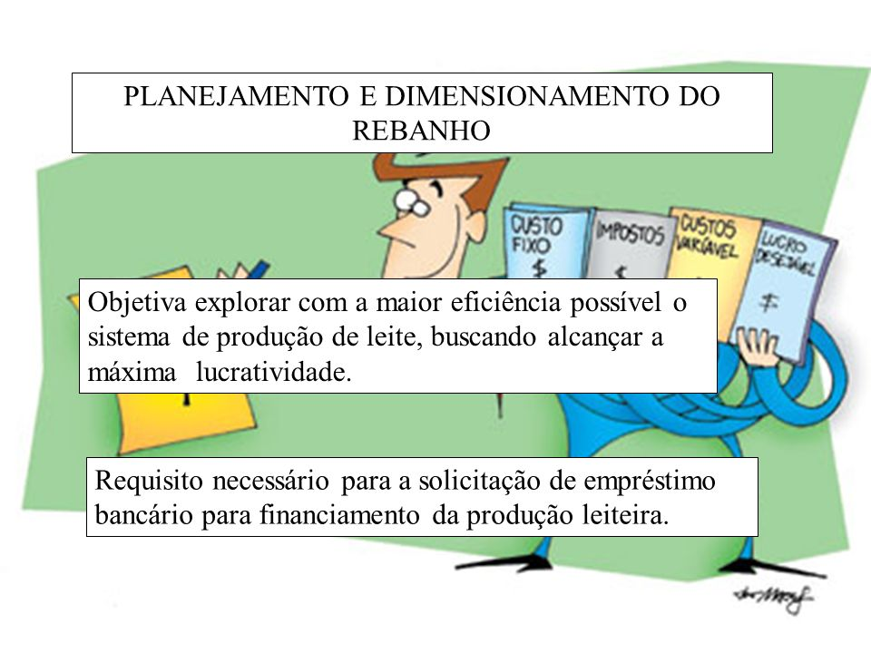 PLANEJAMENTO E DIMENSIONAMENTO DO REBANHO