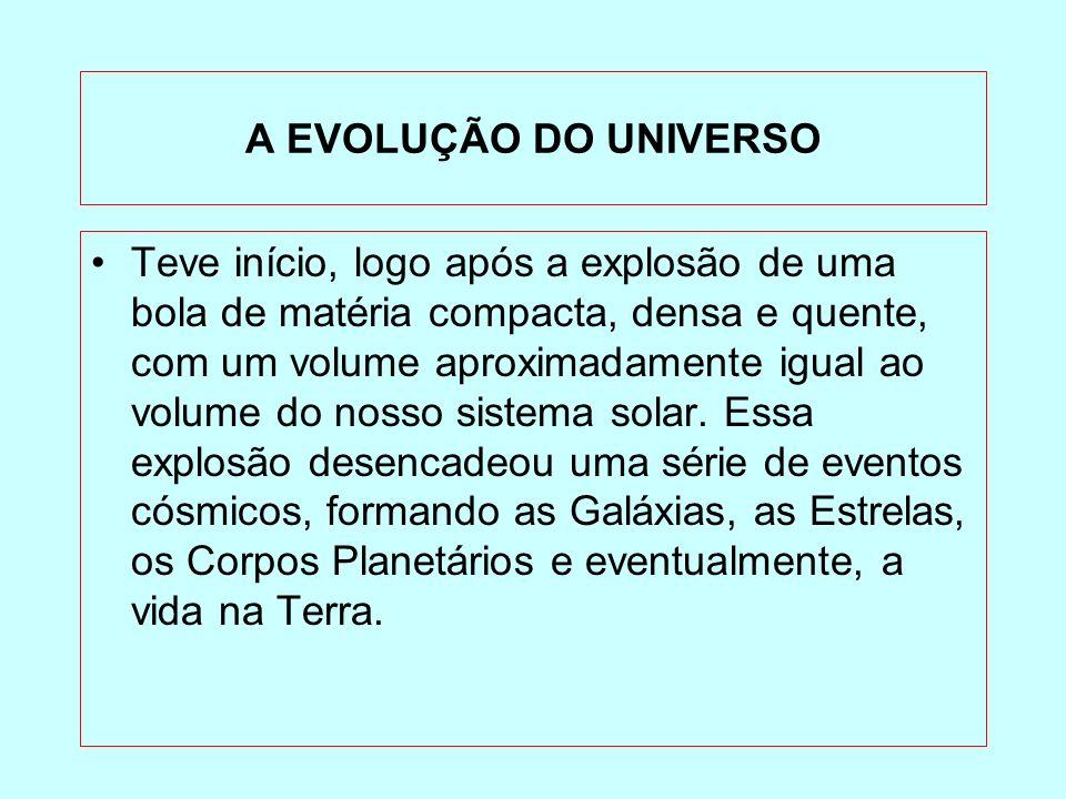 A EVOLUÇÃO DO UNIVERSO