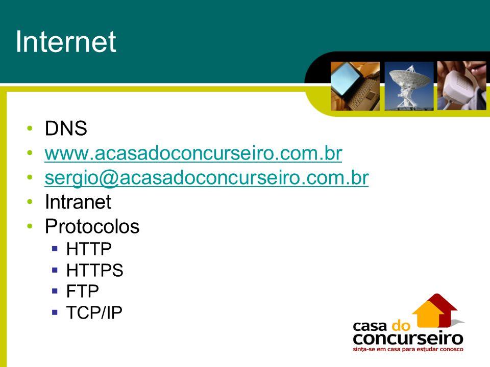 Internet DNS www.acasadoconcurseiro.com.br
