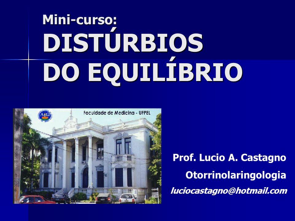 DISTÚRBIOS DO EQUILÍBRIO Mini-curso: Prof. Lucio A. Castagno