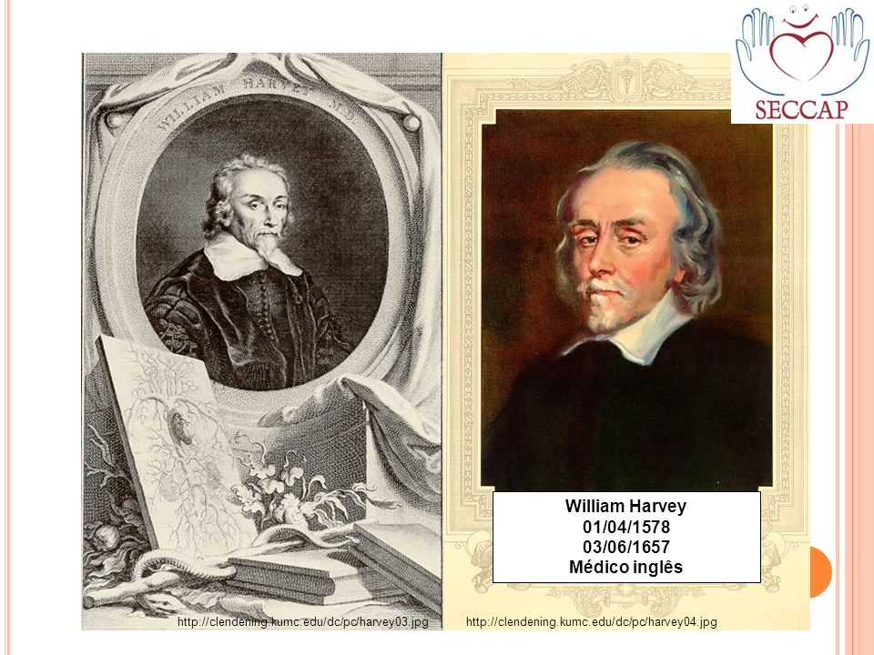 William Harvey 01/04/1578 03/06/1657 Médico inglês