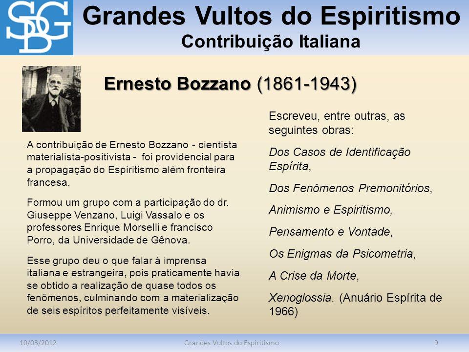 Grandes Vultos do Espiritismo Contribuição Italiana
