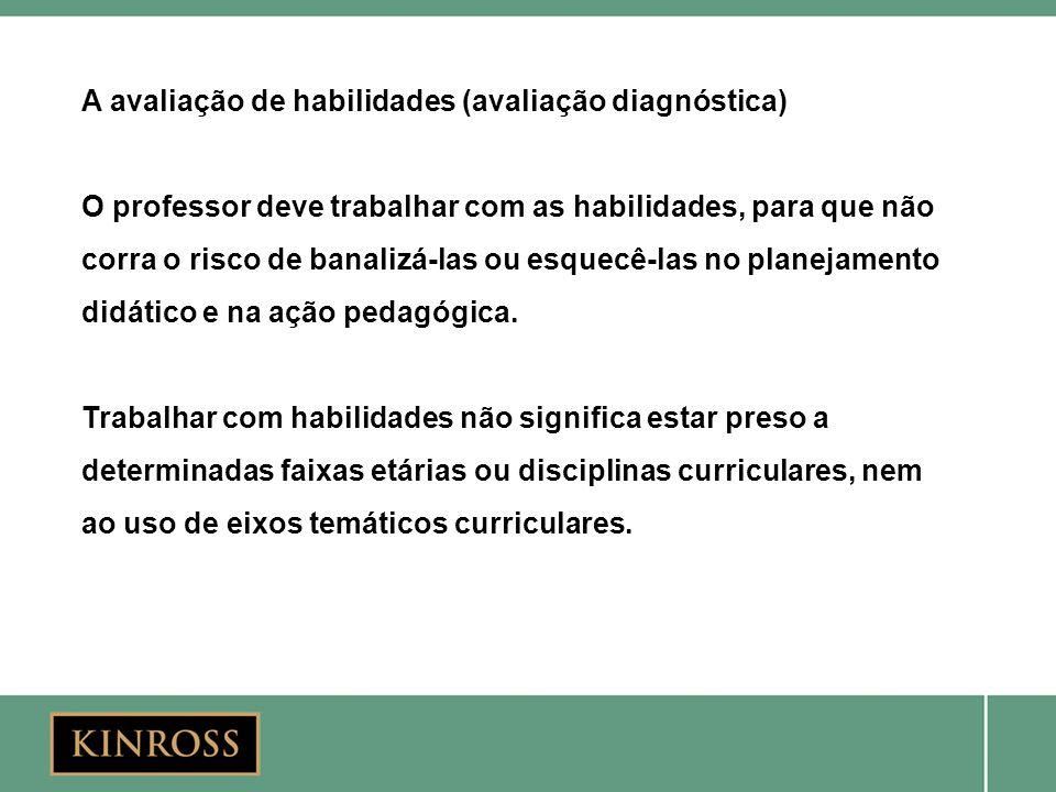 A avaliação de habilidades (avaliação diagnóstica)