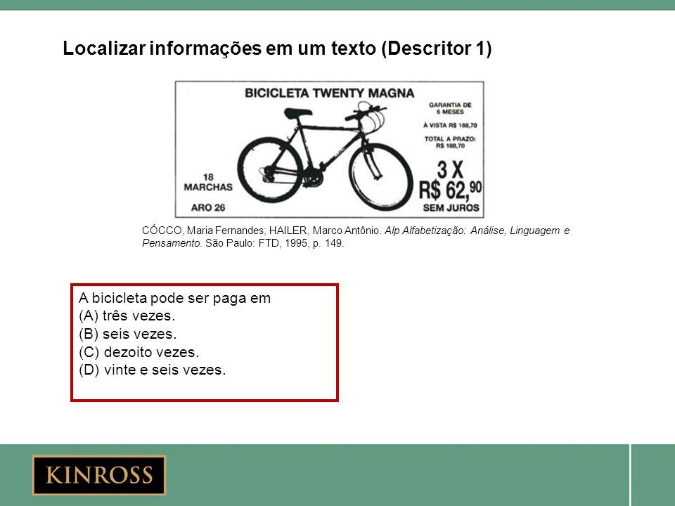 Localizar informações em um texto (Descritor 1)