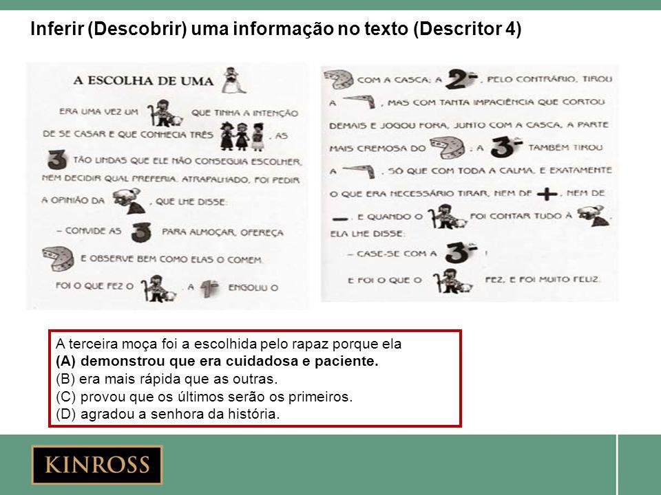 Inferir (Descobrir) uma informação no texto (Descritor 4)