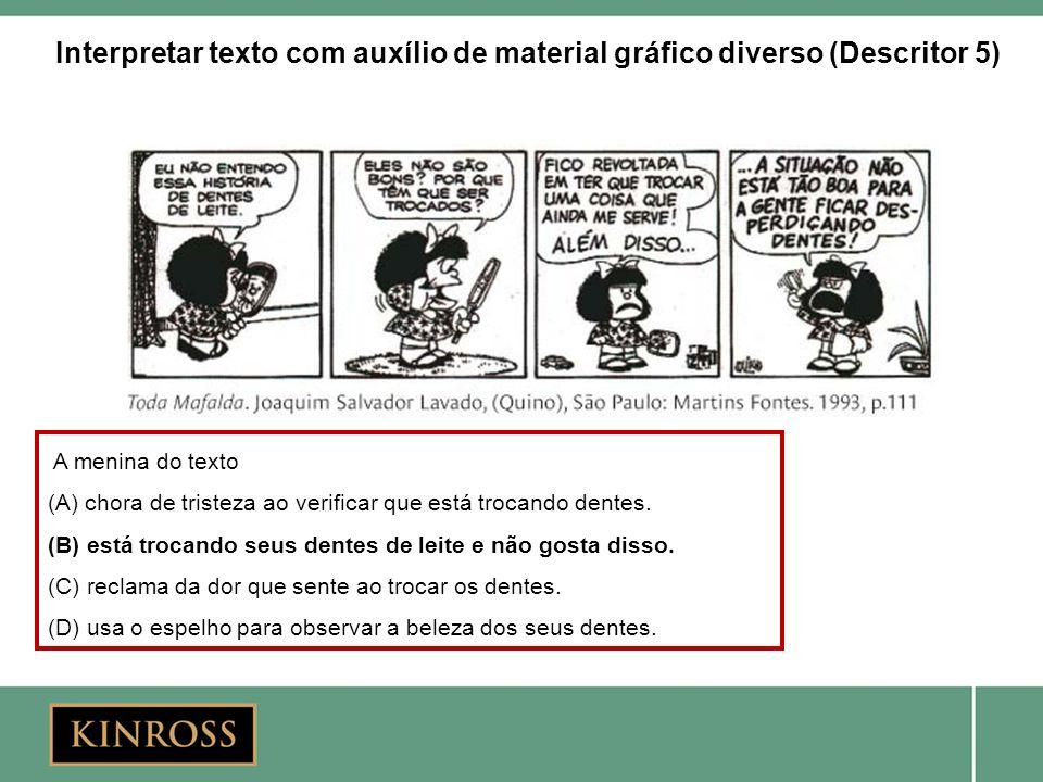 Interpretar texto com auxílio de material gráfico diverso (Descritor 5)