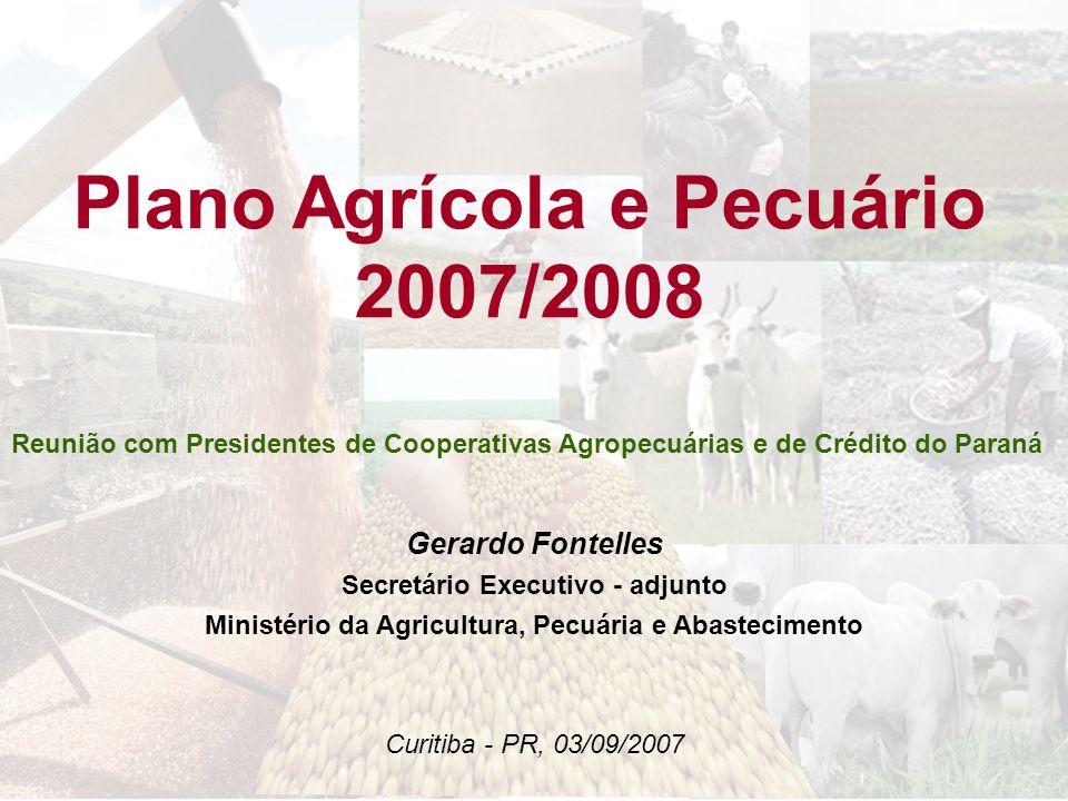 Plano Agrícola e Pecuário 2007/2008