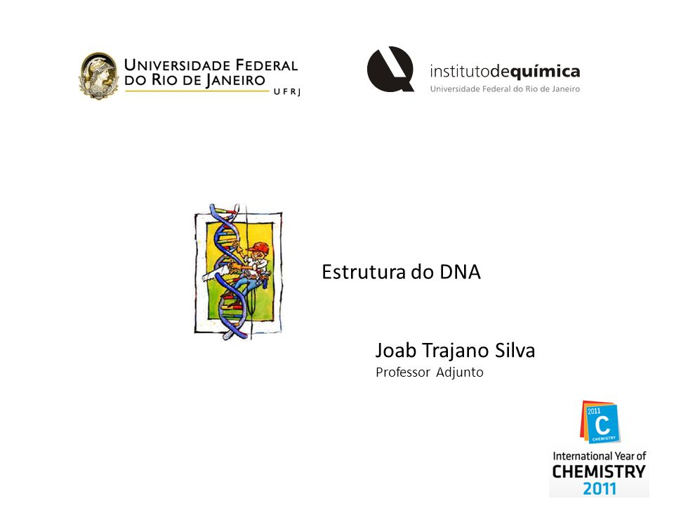 Estrutura do DNA Joab Trajano Silva Professor Adjunto