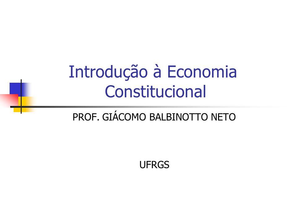 Introdução à Economia Constitucional