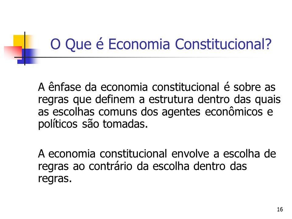 O Que é Economia Constitucional