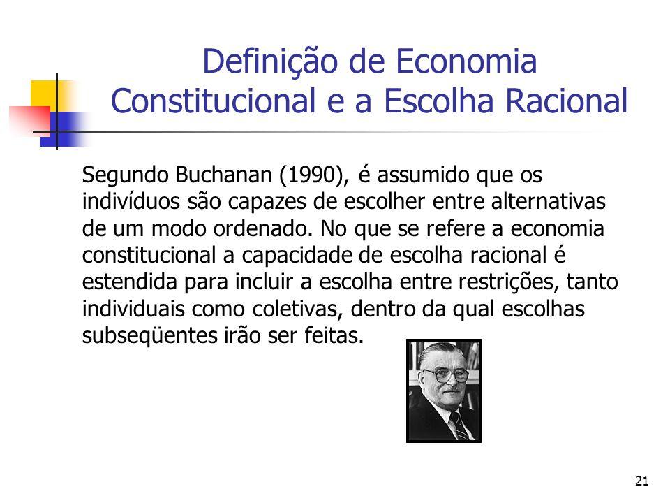 Definição de Economia Constitucional e a Escolha Racional