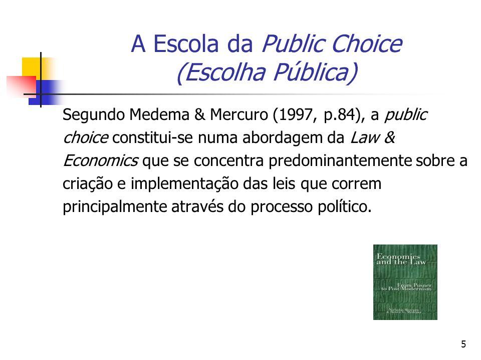 A Escola da Public Choice (Escolha Pública)