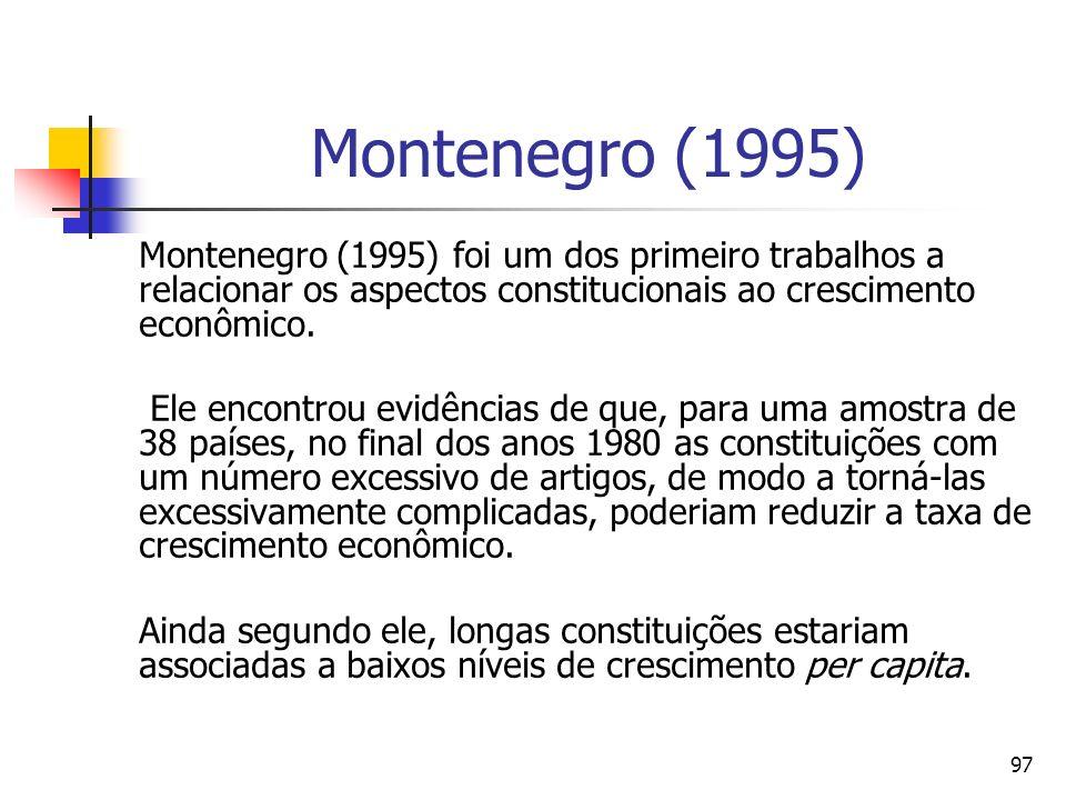 DIREITO E ECONOMIA 24/03/2017. Montenegro (1995)