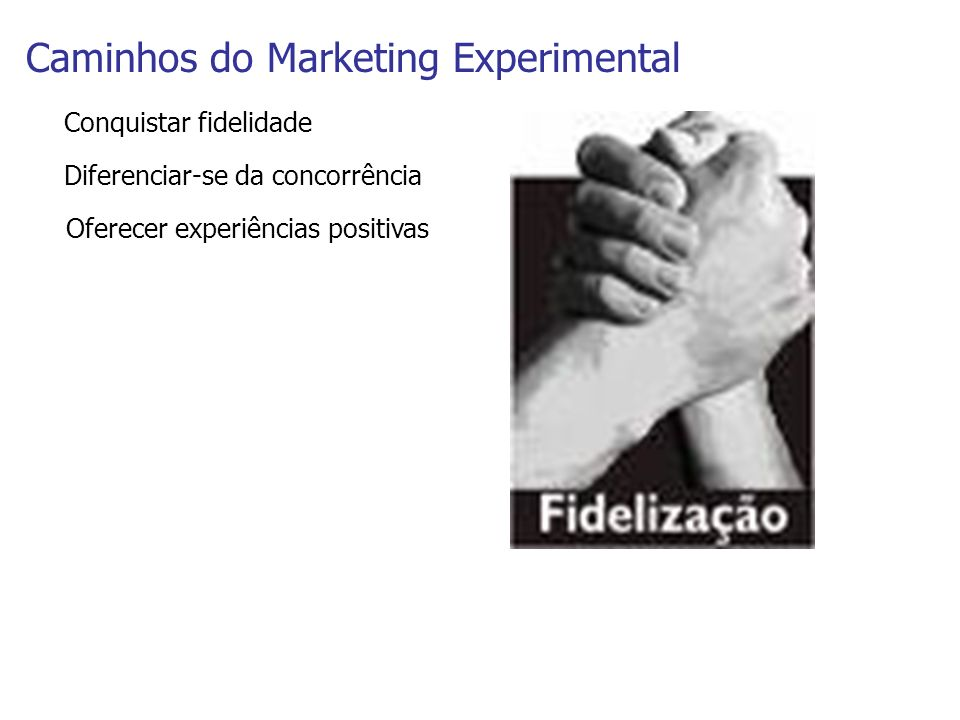 Caminhos do Marketing Experimental