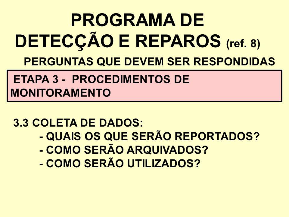 PROGRAMA DE DETECÇÃO E REPAROS (ref. 8)