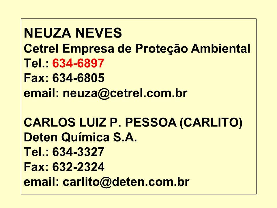 NEUZA NEVES Cetrel Empresa de Proteção Ambiental Tel