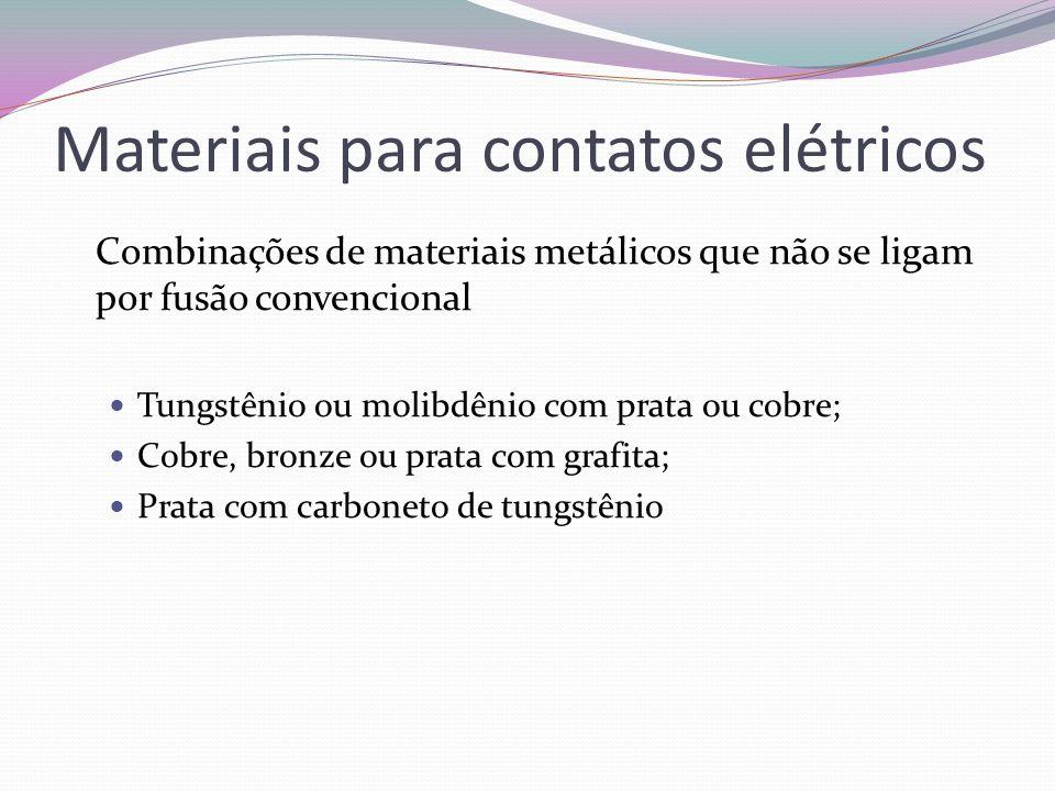 Materiais para contatos elétricos