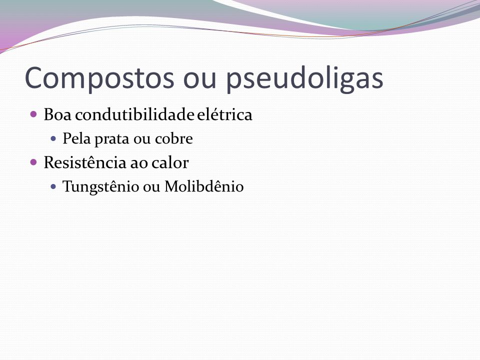 Compostos ou pseudoligas