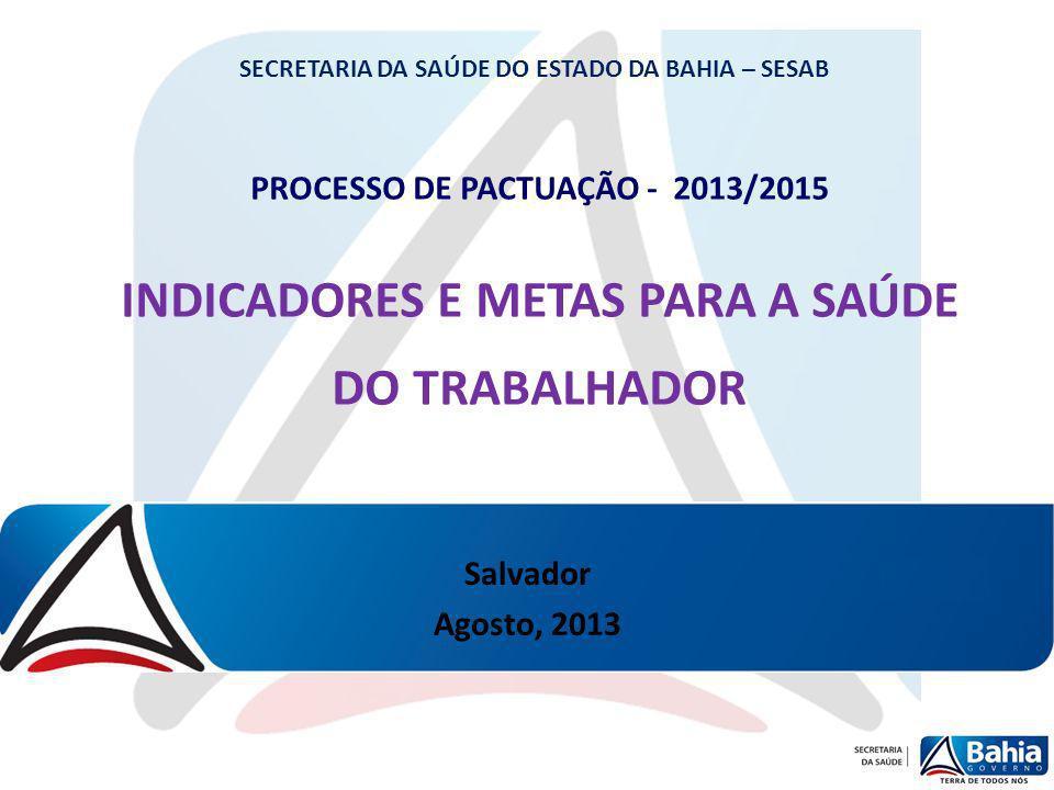 INDICADORES E METAS PARA A SAÚDE DO TRABALHADOR