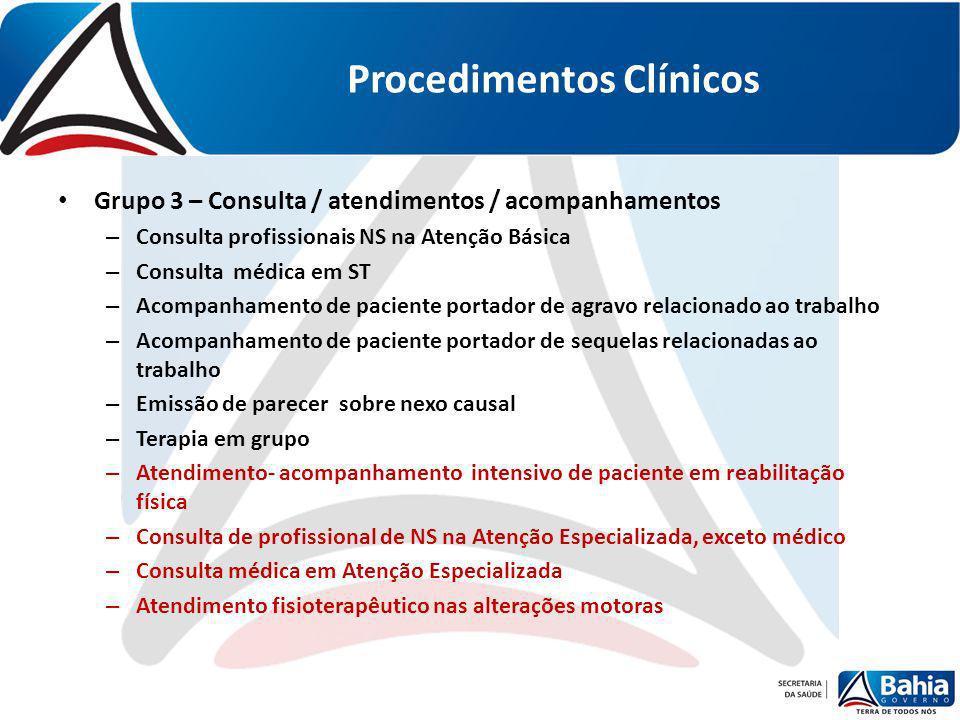 Procedimentos Clínicos