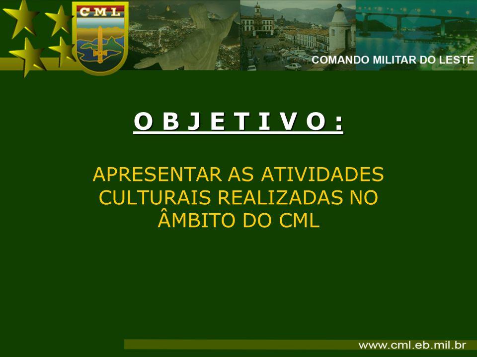 APRESENTAR AS ATIVIDADES CULTURAIS REALIZADAS NO ÂMBITO DO CML