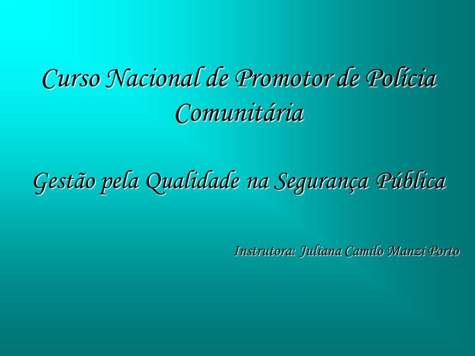 Curso Nacional de Promotor de Polícia Comunitária