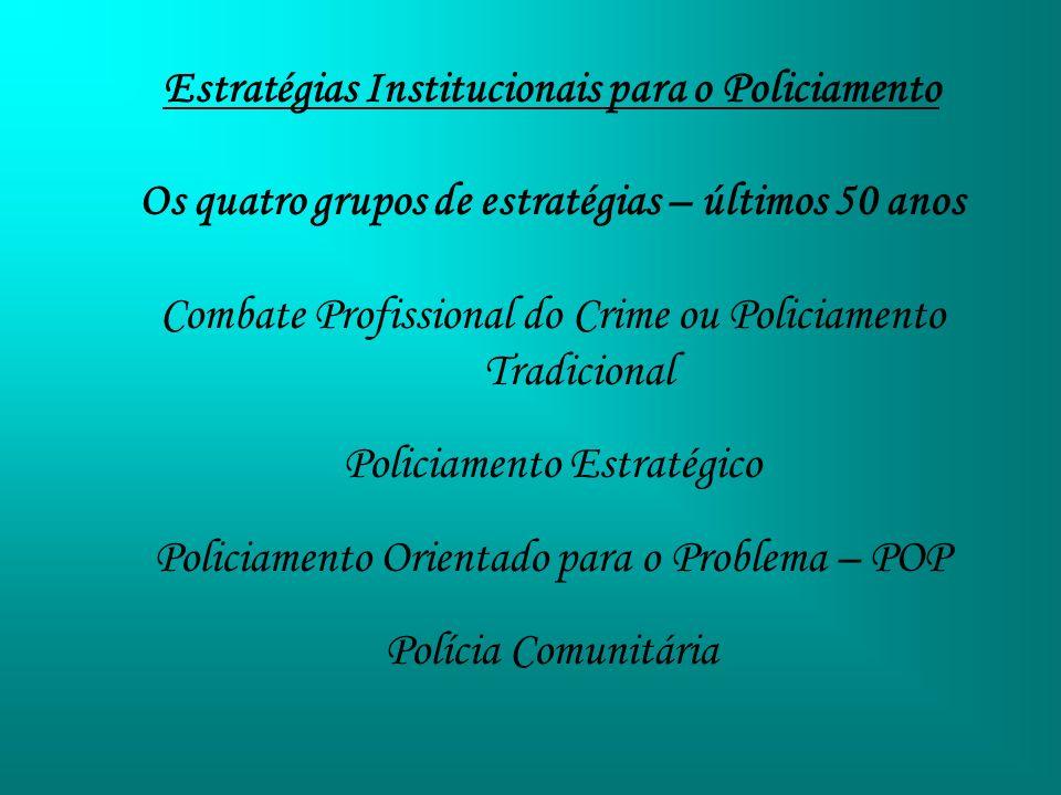Estratégias Institucionais para o Policiamento