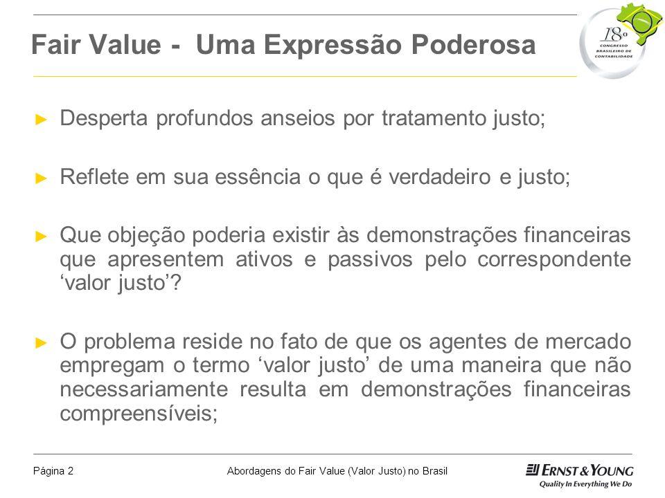 Fair Value - Uma Expressão Poderosa