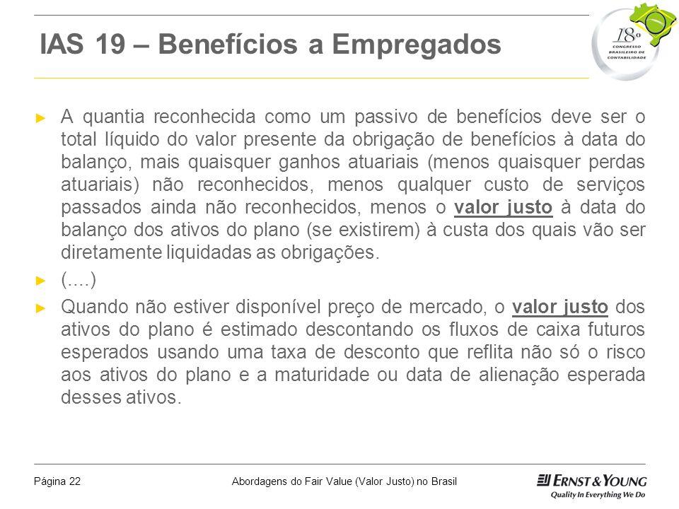 IAS 19 – Benefícios a Empregados