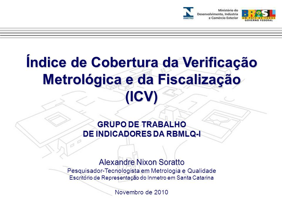 Índice de Cobertura da Verificação Metrológica e da Fiscalização (ICV)