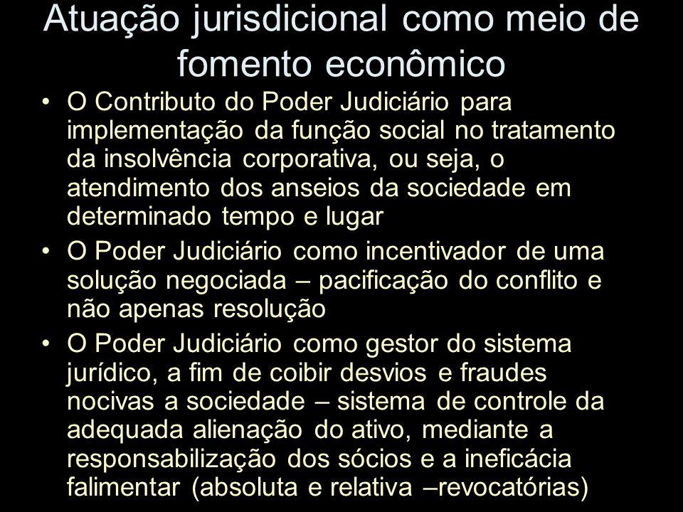 Atuação jurisdicional como meio de fomento econômico