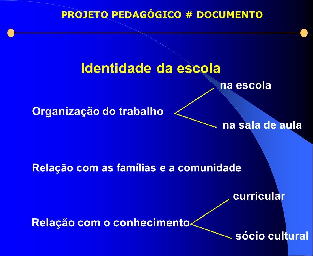 PROJETO PEDAGÓGICO # DOCUMENTO