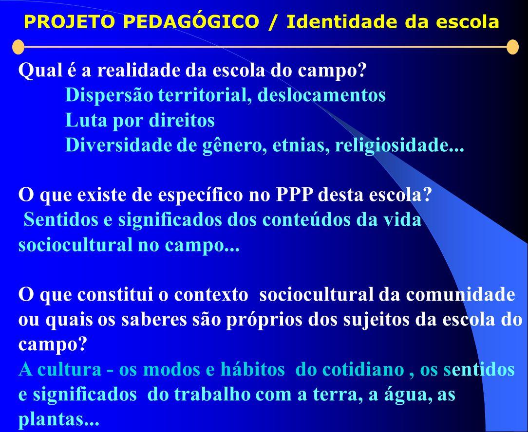 PROJETO PEDAGÓGICO / Identidade da escola