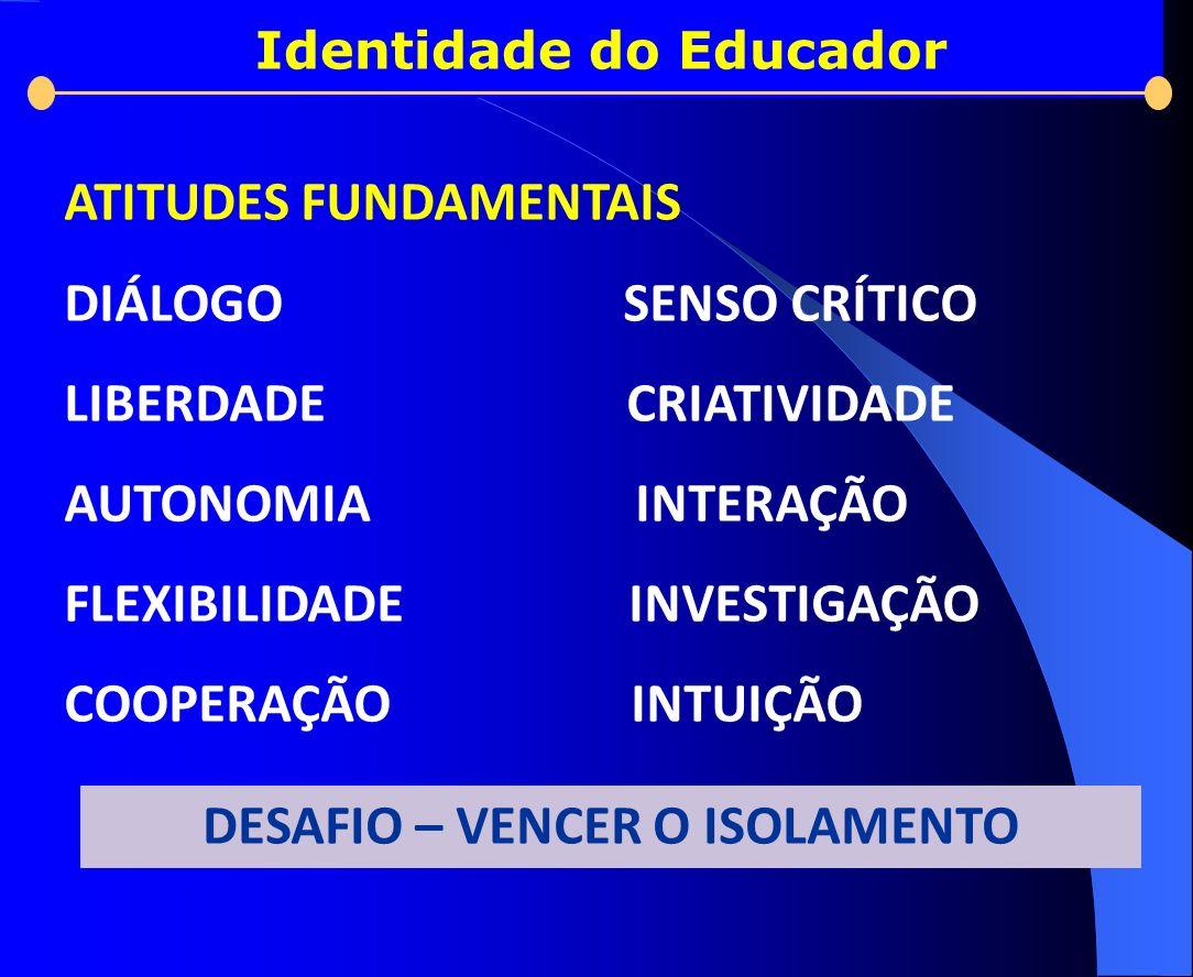 Identidade do Educador DESAFIO – VENCER O ISOLAMENTO