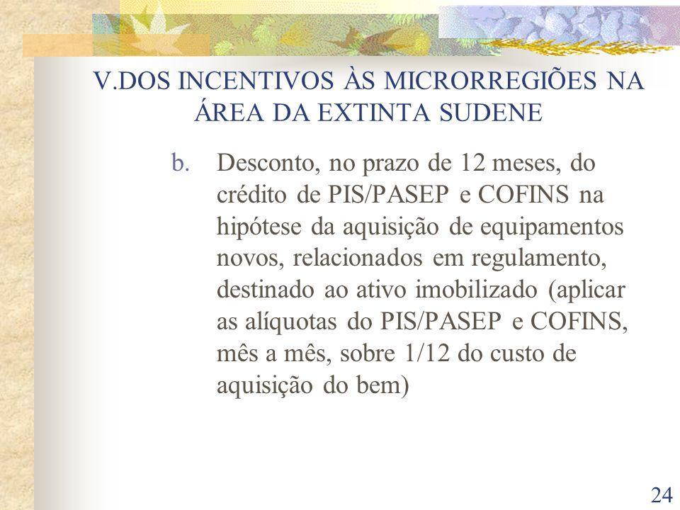 V.DOS INCENTIVOS ÀS MICRORREGIÕES NA ÁREA DA EXTINTA SUDENE