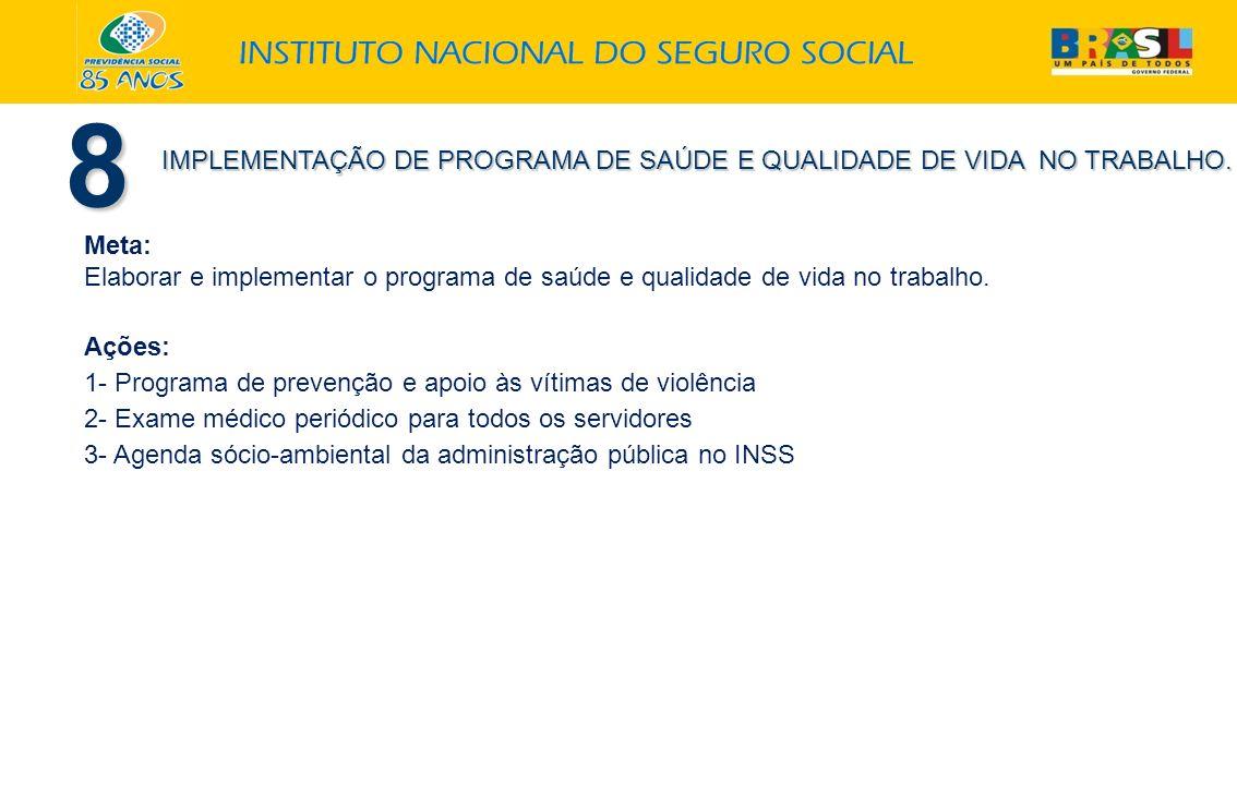 8 IMPLEMENTAÇÃO DE PROGRAMA DE SAÚDE E QUALIDADE DE VIDA NO TRABALHO.