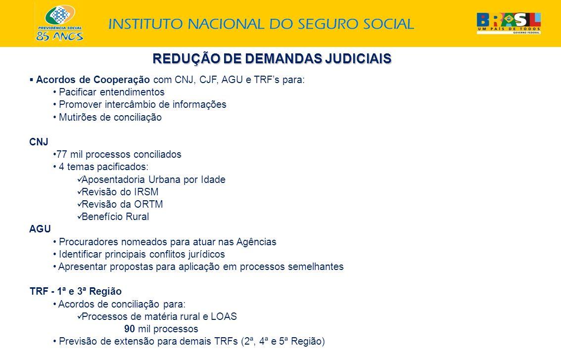 REDUÇÃO DE DEMANDAS JUDICIAIS