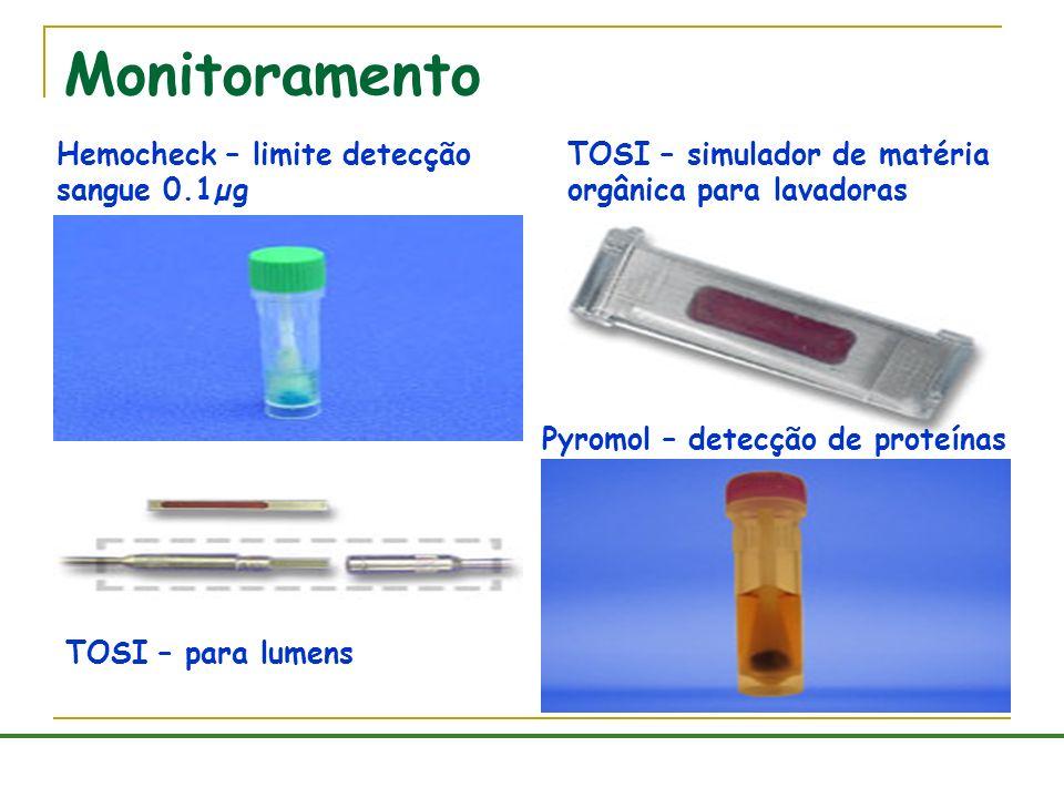 Monitoramento Hemocheck – limite detecção sangue 0.1µg