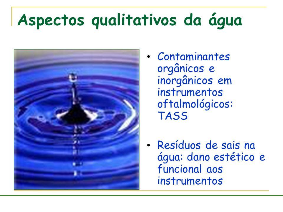 Aspectos qualitativos da água