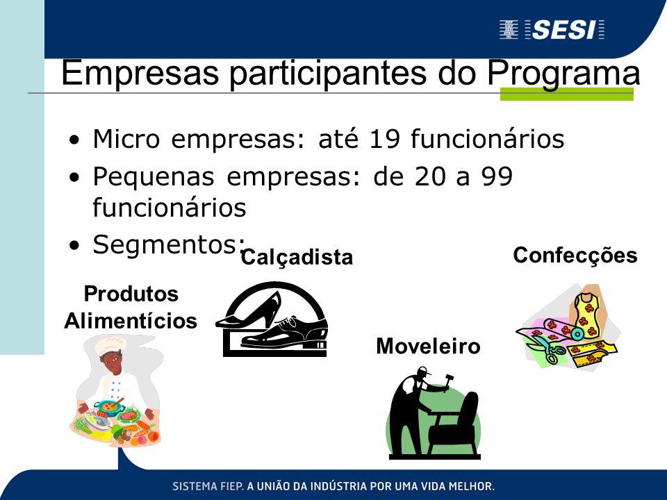 Empresas participantes do Programa