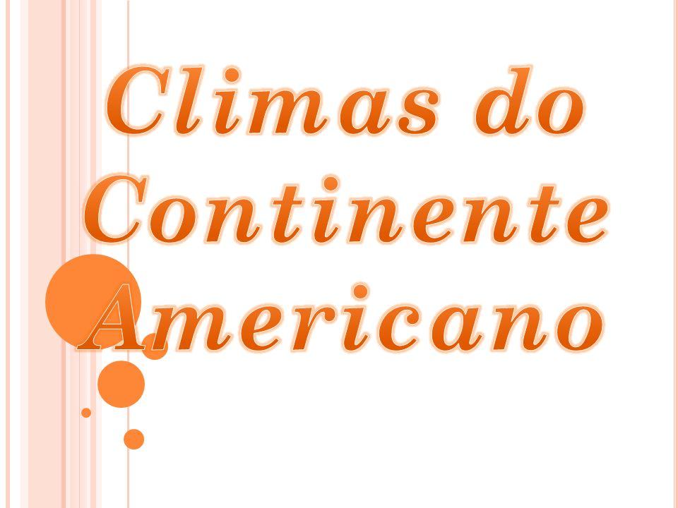 Climas do Continente Americano