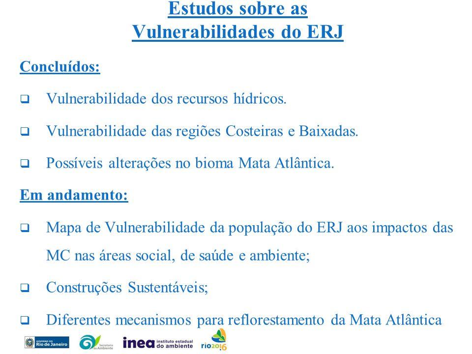 Estudos sobre as Vulnerabilidades do ERJ