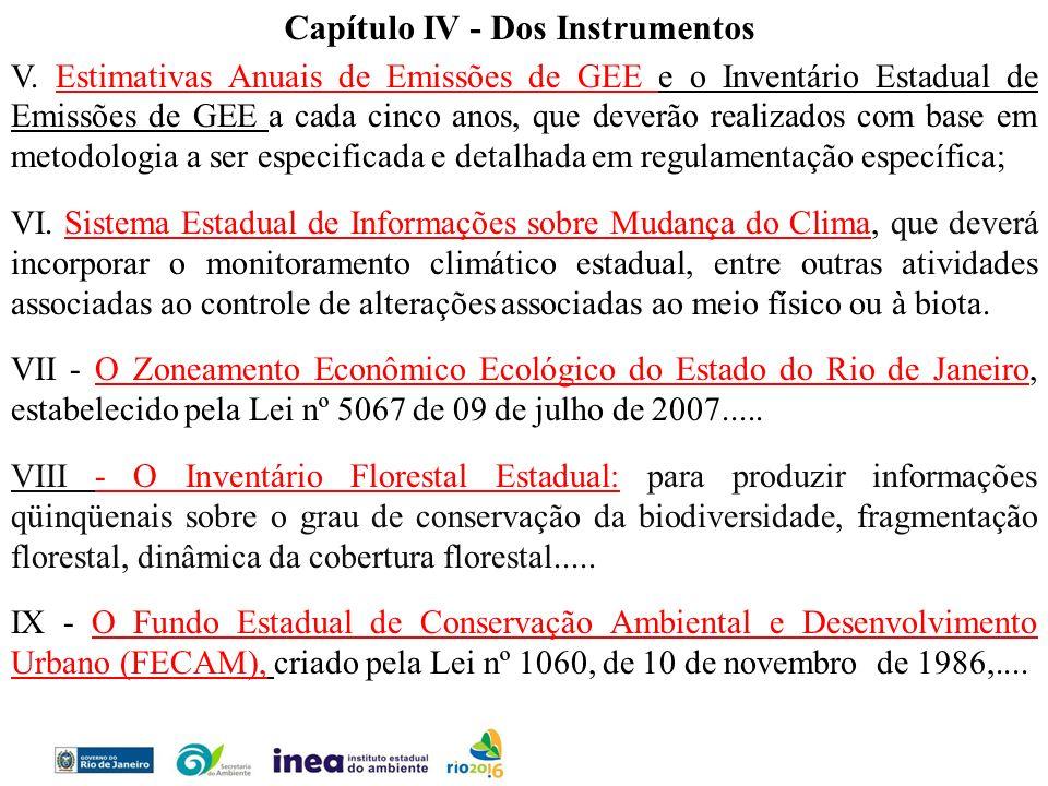 Capítulo IV - Dos Instrumentos